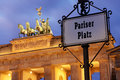 Brandenburg gate berlin germany and pariser platz Royalty Free Stock Photography