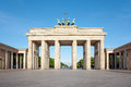 Brandenburg gate, blue sky, Berlin Stock Photography