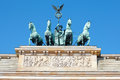 Brandenburg gate detail, Berlin Stock Photography