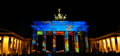 Brandenburg gate during festival of lights Stock Photo