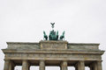 Brandenburg gate the horses on top of the in berlin germany Stock Photo