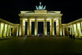 Brandenburg gate at night Royalty Free Stock Photo