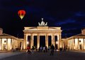 Brandenburg gate at night in berlin germany Royalty Free Stock Images