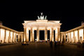 Brandenburg gate at night in berlin germany Stock Photo