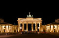 Brandenburg gate at night in berlin germany Royalty Free Stock Photos