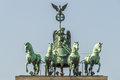 Brandenburg Gate Quadriga Royalty Free Stock Photo