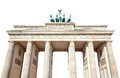 Brandenburg gate on white, Berlin, Royalty Free Stock Photo