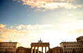 Brandenburger Gate in Berlin Royalty Free Stock Photo