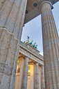 The Brandenburger Tor at Berlin, Germany Stock Image