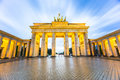 Brandenburger Tor (Brandenburg Gate) in Berlin Germany at night Royalty Free Stock Photo