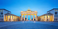Brandenburger tor brandenburg gate panorama famous landmark in berlin germany night at Stock Image