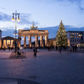 Brandenburger tor at christmas in berlin Stock Images