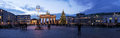 Brandenburger tor panorama view in berlin Royalty Free Stock Photography