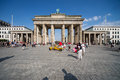 Brandenburger tor in summer image showing the berlin on a sunny afternoon Royalty Free Stock Photography