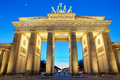 The Brandenburger Tor at sunset Royalty Free Stock Photo