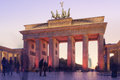 Brandenburger tor sunset berlin s in a warm mood Royalty Free Stock Photography