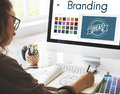 Branding Ideas Design Identitiy Marketing Concept Royalty Free Stock Photo