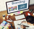 Branding Ideas Design Identity Marketing Concept Royalty Free Stock Photo