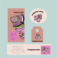 Branding identity template corporate company design, Set for business hotel, resort, spa, luxury premium logo,