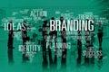 Branding marketing advertising identity world trademark concept Royalty Free Stock Image