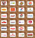 Brands and logos of top food franchises