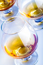 Brandy detail or cognac in a glass cup Stock Photo