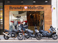 Brandy Melville store in Valencia, Spain.