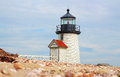 Brant Point Lighthouse Nantucket Island Royalty Free Stock Photo