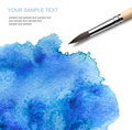 Brash and watercolor paint Royalty Free Stock Photo