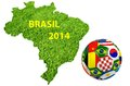 Brasil map and soccer ball of Stock Image