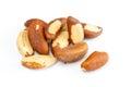 Brasil nuts few isolated on white background Stock Images