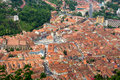Brasov city aerial view of romania Royalty Free Stock Images