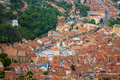 Brasov city aerial view of romania Stock Image