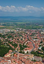 Brasov city and outskirts aerial view romania east europe Stock Photography