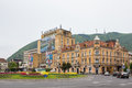 Brasov city view from central area of romania Royalty Free Stock Photos