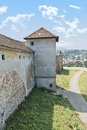 Brasov fortress on the hill Stock Photos