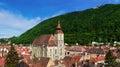 Black Church and Tampa mountain, Brasov, Romania Royalty Free Stock Photo