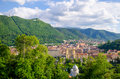 Brasov old city panoramic view