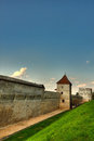 Brasov old fortress walls Royalty Free Stock Images