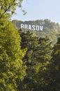 Brasov sign on Tampa mountain Royalty Free Stock Photo