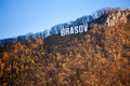 Brasov sign on top of Tampa mountain Royalty Free Stock Photo