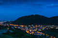 Brasov and tampa mountain romania downtown twilight view montain local landmark medieval city in transylvania Royalty Free Stock Photography