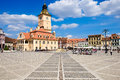 BRASOV, TRANSYLVANIA, ROMANIA. The old city center called Piata Royalty Free Stock Photo