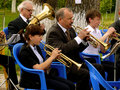Brass band budyonnovsk stavropol region russia may municipal on the labor day celebration on st of may in budyonnovsk russia Stock Images
