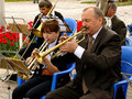 Brass band budyonnovsk stavropol region russia may municipal on the labor day celebration on st of may in budyonnovsk russia Royalty Free Stock Image