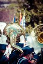 Brass band parade in usa Royalty Free Stock Photo