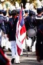 Brass band parade in usa Stock Photos