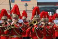 Brass band at Santa Semana, Malaga. Royalty Free Stock Photo