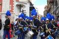 Brass band at Santa Semana, Seville. Royalty Free Stock Photo