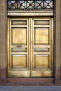 Brass Bank Doors Royalty Free Stock Photography
